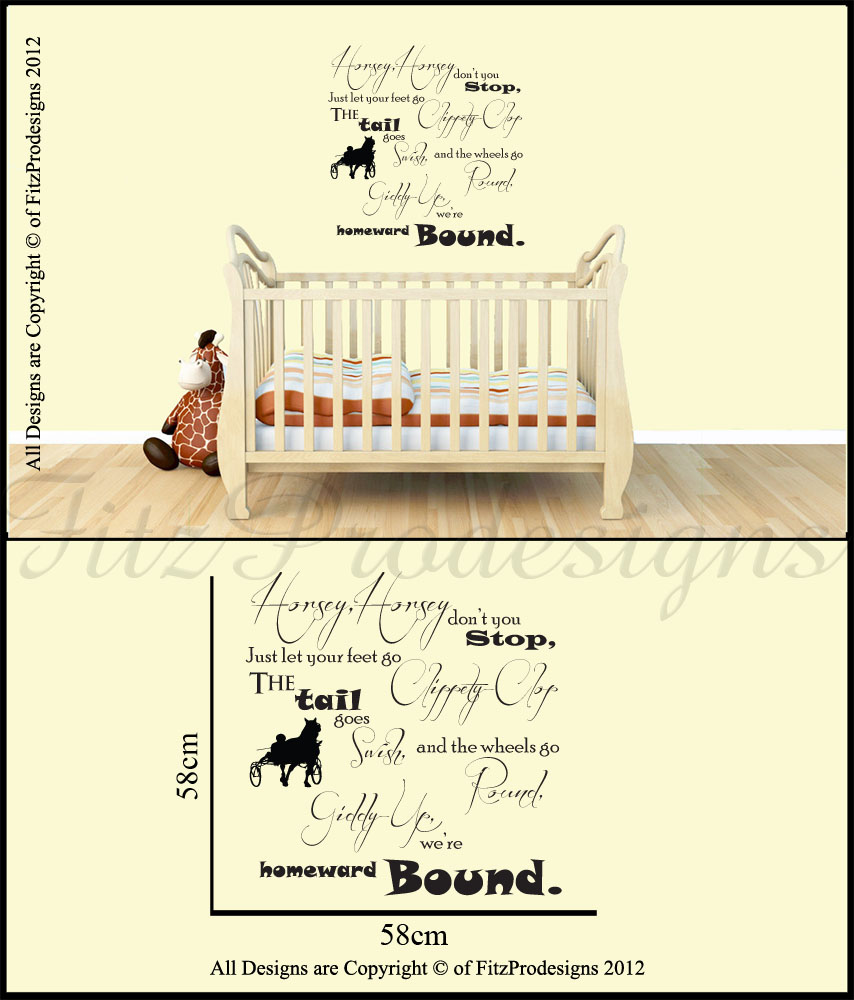 Nursery Rhyme Wall Stickers Quotes Wall Decals Wall Art
