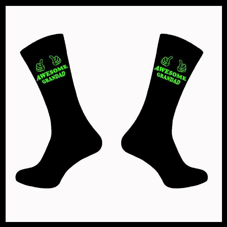 Awesome Grandad Novelty Funny Socks Ideal Birthday Gift